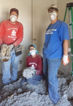 HHCT covered in cellulose insulation