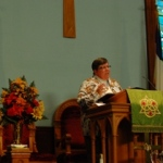Rev Ruth Ann Christopher - presenting camp brainerd report 9 23 2014 small