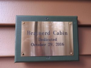 cabin-dedication-brainerd-cabin-sign